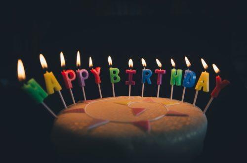 Article : Joyeux anniversaire à moi!