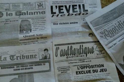 Article : Campagne PF 2020 à Nouakchott, la presse en fait un large écho