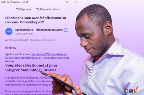 Article : Sidoine Feugui, blogueur chez Mondoblog ! Waouh ! Quel honneur !
